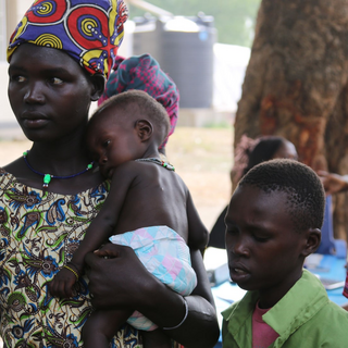 Mothers wait for their children to complete nutrition assessements at UK aided Juba Paediatric Hospital - April 2017 (DFID picture under Creative Commons https://www.flickr.com/photos/dfid/34007683831/ Picture: Robert Oxley/DFID)