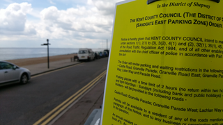 Shepway District Council Sandgate Parking Consultation Notice on Granville Parade