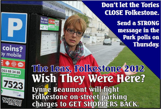 Folkestone Park 2012 By-election Campaign Postcard front