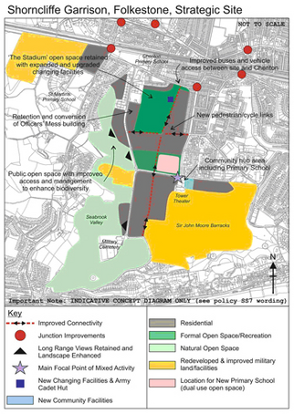 MOD consultation map on Shorncliffe Garrison site development
