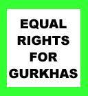 Equal Rights for Gurkhas Banner