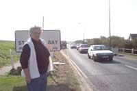 Cllr Julie White by the A259 in St Mary's Bay
