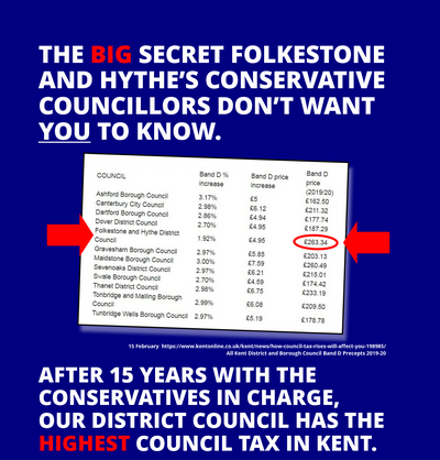 Our council tax is the highest in Kent