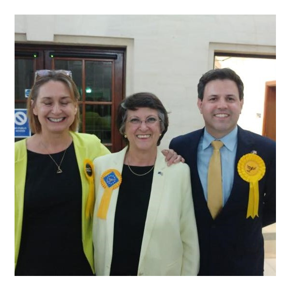 Lib Dem MEPs for South East England: Judith Bunting, Catherine Bearder and Antony Hook