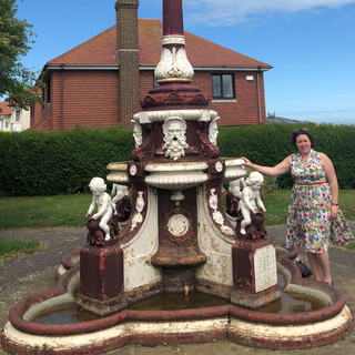 Danielle Anson with the Simon Cooper Weston Fountain