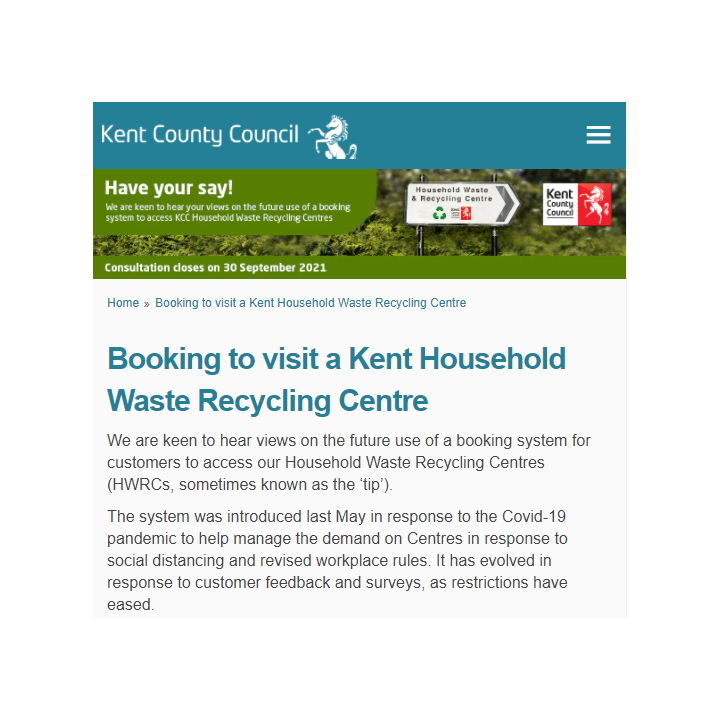 Kent Recycling Centre Consultation